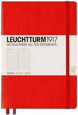 Leuchtturm1917 Hardcover Journal Notebook Medium A5 RULED 332933 Classic Red