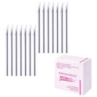 Aghi piercing sterilizzati 100piece per il naso dell'ombelico del corpo