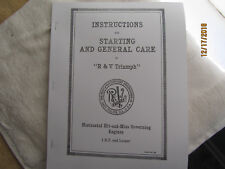 1916 Root & VanDerVoort  1HP & Larger Horizontal Engine Instruction Manual