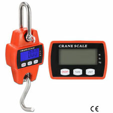 300KG/660LBS Mini Crane Scale Industrial Hook Hanging Weight Digital LCD Display