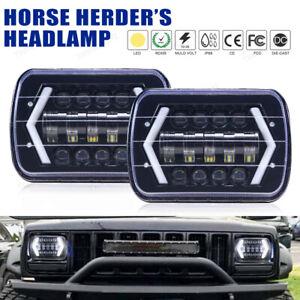 "7x6"" 5x7"" LED Headlight DRL Hi-Lo DOT Sealed Beam for Toyota Nissan Pickup Truck"