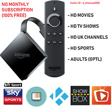 ** KODI ** Amazon Fire TV 4K UHD (3rd Generation) with Alexa. MOVIES, TV, SPORT