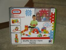 Little Tikes Waffle Blocks Farm 4 Play Sets In 1 Storage Bag Included Figures