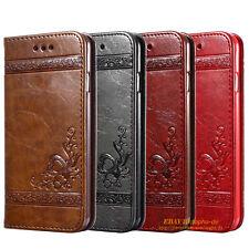 LUXUS Handy Tasche Leder Schutz Hülle Premium Slim Flip Case Stand EtuiI Wallet