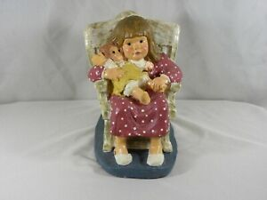 1987-Austin-Productions-Sculpture-Bright-Eyes-Dee-Crowley-Girl-Holding-Doll