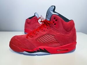 "AIR JORDAN 5 RETRO ""RED SUEDE"" - US Men Size 8 - Brand New"