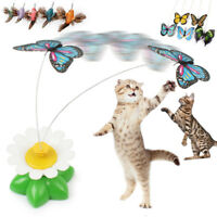 Cute Pet Cat Kitten Toys Electric Rotating Butterfly Rod Cat Teaser Play Game