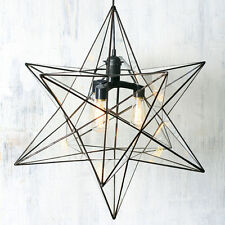 Designer Hand Crafted Loft Star with Glass 3 bulbs Chandelier, Living room
