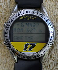 NASCAR MATT KENSETH 17 2000 ROOKIE GAME TIME SCHEDULE DIGITAL TIME MEN'S WATCH