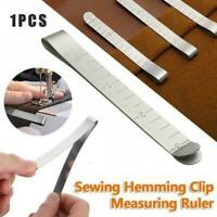 Sewing Clips Stainless Steel Hemming Clips Measurement Tool Ruler Quilting E6Q3