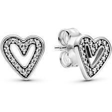 PANDORA Ohrstecker Ohrringe Studs Earrings 298685 C01 Heart Herzen Silber