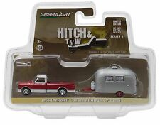1:64 GreenLight *HITCH & TOW 6* Red 1968 Chevy C-10 Pickup w/AIRSTREAM CAMPER