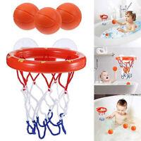 Baby Kids Child Bathtub Toy Mini Basketball Hoop & 3 Balls Set Plastic Bath Toys