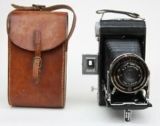 VINTAGE KODAK SIX-20 B FPOLDING ROLL FILM CAMERA WITH LEATHER CASE