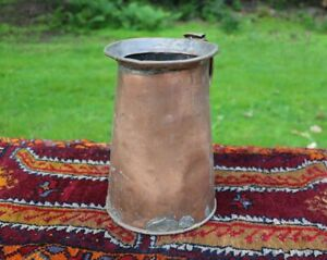 Antique Copper Milk Pitcher hand forged  original patina