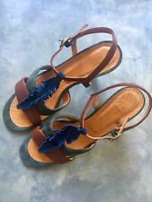 CHIE MIHARA TRAMPA BLUE SUEDE HEELS WOMEN SANDALS EUR 40 UK7 BRAND NEW RRP £240