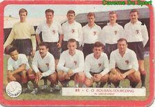 083 EQUIPE CO.ROUBAIX-TOURCOING FOOTBALL CARD CARTE MIROIR SPRINT 1960's RARE