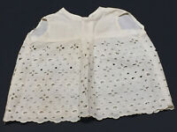 """Vintage Cotton Eyelet Doll Petticoat Dress for 16"""" to 18"""" antique doll"""