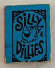 Silly Dillies 4 A Mini Book Made in USA 1970 M.B. Vending Machine Prize Charm