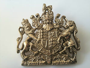 Royal Coat of Arms Brass Sign Plaque Royal Crest Wall Hanger