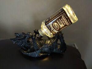 Dragon Jack Daniels/ Jim Beam bottle lamp
