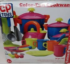 New ListingConstructive Playthings 38 Piece Pretend Play Kitchen Utensils And Cookware