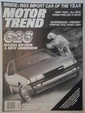 Mazda 626 Orig 1983 USA MKT Road Test folleto de ventas-auto de importación del año