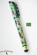 Springer Spaniel Dog Gel Replaceable Writing Pen Ballpoint Black Ink