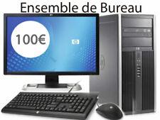 "ORDINATEUR DE BUREAU HP COMPAQ 8200Elite 4GB 250go W10 Ecran 19"" Reconditionné"
