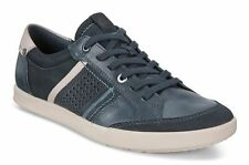 Ecco 536234 Collin 2.0 Mens Navy Denim Blue Leather Combi Lace Up Shoes