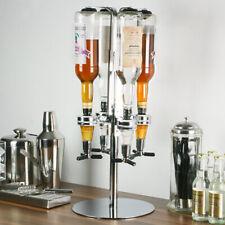 New Rotating 4 Bottle Drinks Dispenser Home Bar Butler Pub Optics Spirits Caddy