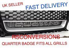 AUDI QUATTRO BADGE GRILL LOGO EMBLEM A3 A4 A5 A7 TT RS5 RS4 A1 Q7 RS3 RS6 RS7 R8