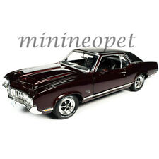Autoworld Amm1245 1970 Oldsmobile Cutlass Sx Black Top 1/18 Diecast Burgundy