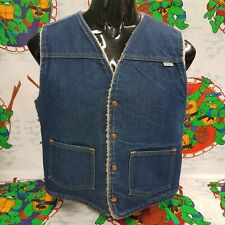Vintage Carhartt Sherpa Lined Denim Vest Shirt Size Large (No Size Tag)