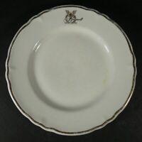 "Vintage Shenango China Roosevelt Hotel Restaurant Ware 6 1/2"" Plate"