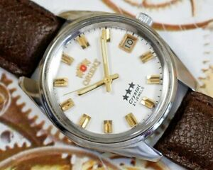 VINTAGE ORIENT 3 STAR CRYSTAL AUTOMATIC CAL.48743 JAPAN MEN'S USED WATCH #270312