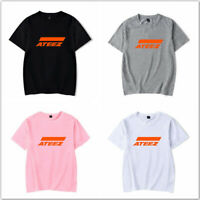KPOP ATEEZ Tshirt Short-Sleeve Unisex Casual T-Shirt Tee T Shirt Cotton Top