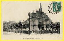 cpa 92 - LEVALLOIS PERRET (Hauts de Seine) L'HÔTEL de VILLE en 1910 Mairie