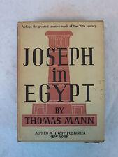 Thomas Mann JOSEPH IN EGYPT Knopf  6th Printing c.1938  2 HC Vols in Slipcase