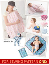 SEWING PATTERN! MAKE BABY ACCESSORIES~NURSING BLANKET~DIAPER COVERS~CHANGING MAT