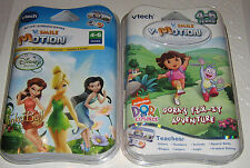VTECH - VSMILE - VMOTION - SET OF 2 GAMES - DORA & TINKERBELL - AGES 4-6 - NEW