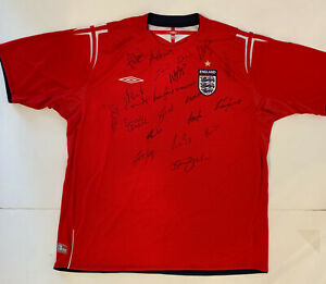Team England National Football soccer Team Signed Jersey shirt - signed by 21