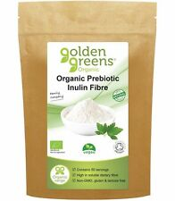 Golden Greens Organic Prebiotic Inulin Fibre Powder, 250g, Weight Loss, Sleep