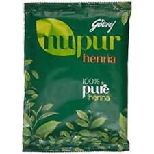 Godrej Nupur Henna Mehandi Powder 100% Natural Hair Color Dye Amla with 9 Herbs