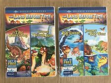 Lot of 2 Land Before Time Double Feature DVD's  Brand new Sealed!