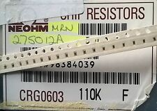 Partial Reel 4500pcs+ NEOHM CRG0603 110K 1% 100ppm Metal Film Resistors SMD