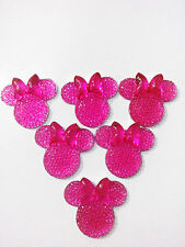 6PCS Rose coLOR Minnie's BOW Flat Back Resin Scrapbooking For phone/Craft@