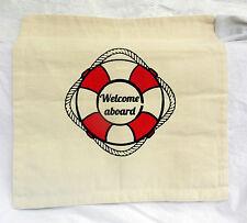 Nautical Theme Cotton Canvas Cushion Cover (D) New