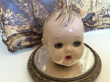 Composition Doll Head Antique Vintage Sleepy Eyes Open Mouth No Markings Sweet