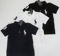 NWT Ralph Lauren Boys S/S Classic Big Pony Solid Mesh Polo Shirt Sz 5 6 7 NEW